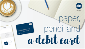 Paper Pencil & a Debit Card